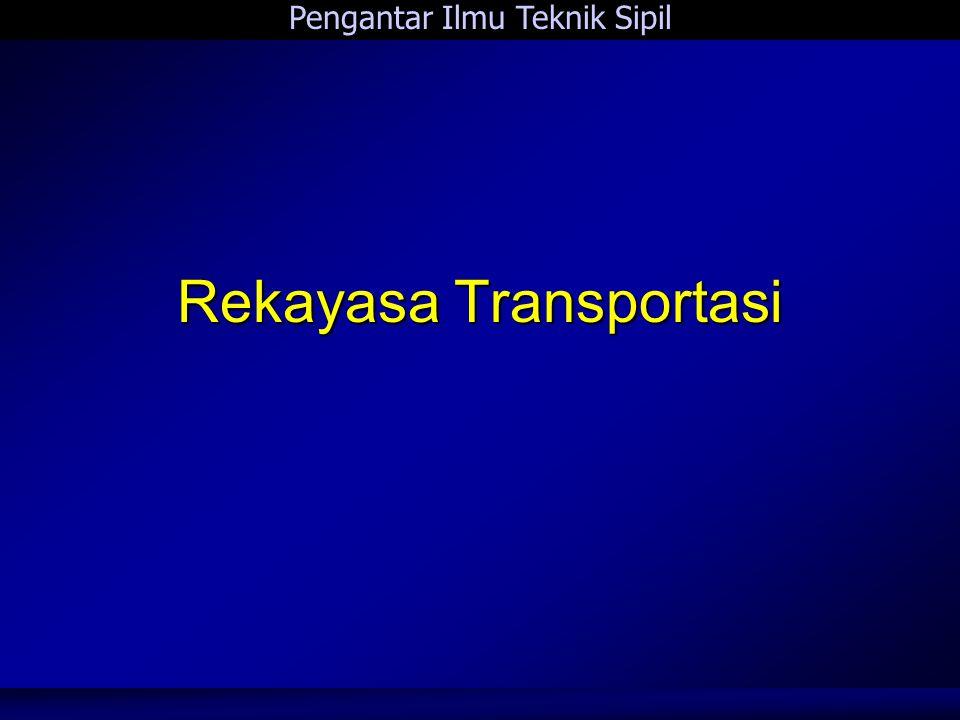 Pengantar Ilmu Teknik Sipil 4 Rekayasa Transportasi Rekayasa Transportasi 1.