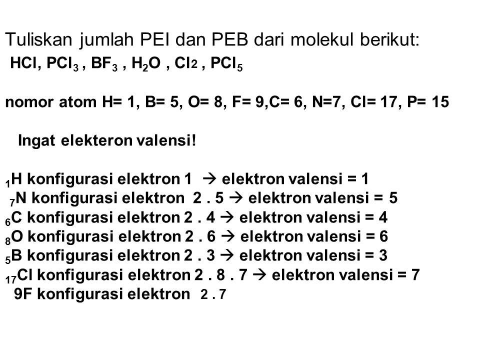 Rumus molekul Rumus lewis Rumus struktur (rumus elektron) (rumus bangun) H H I NH 3 N H N – H H I H
