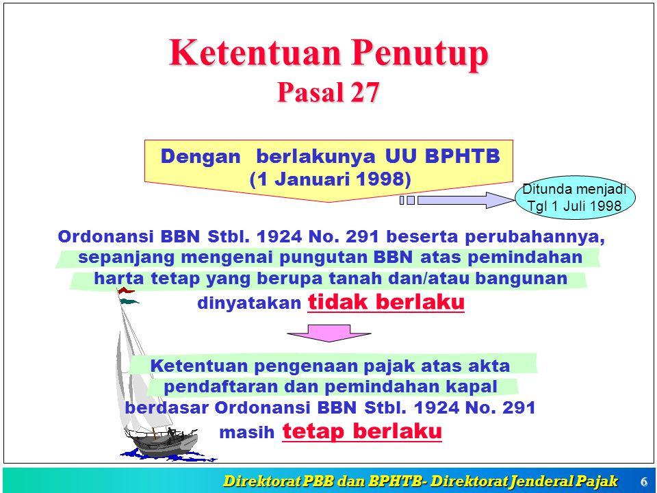 Direktorat PBB dan BPHTB- Direktorat Jenderal Pajak Direktorat PBB dan BPHTB- Direktorat Jenderal Pajak 5 Tgl.