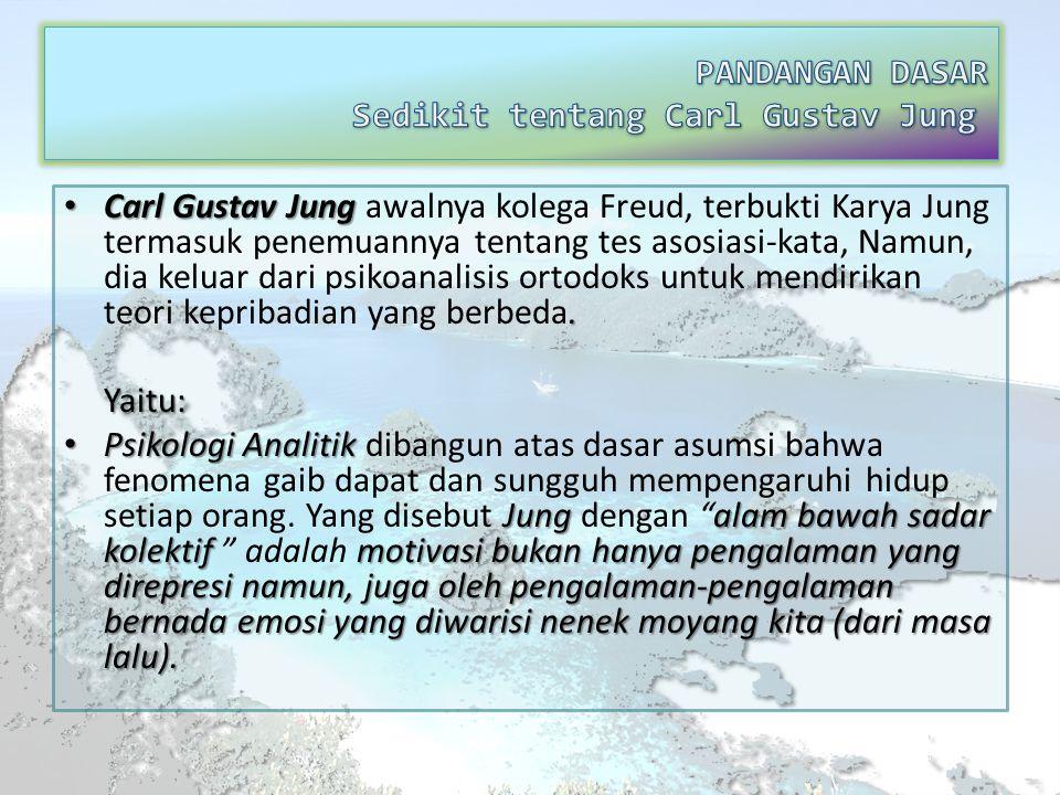 Carl Gustav Jung. Carl Gustav Jung awalnya kolega Freud, terbukti Karya Jung termasuk penemuannya tentang tes asosiasi-kata, Namun, dia keluar dari ps