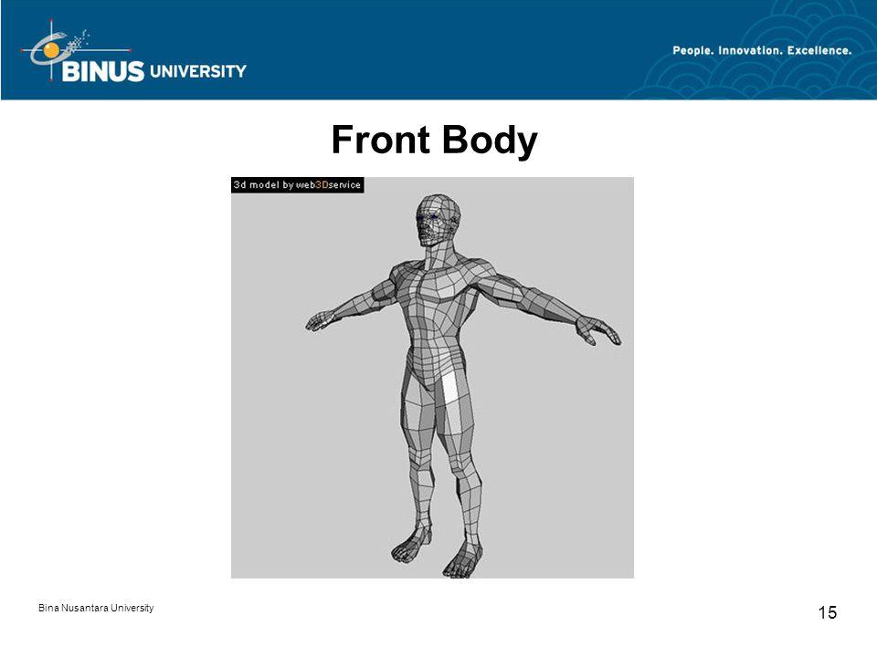 Bina Nusantara University 15 Front Body