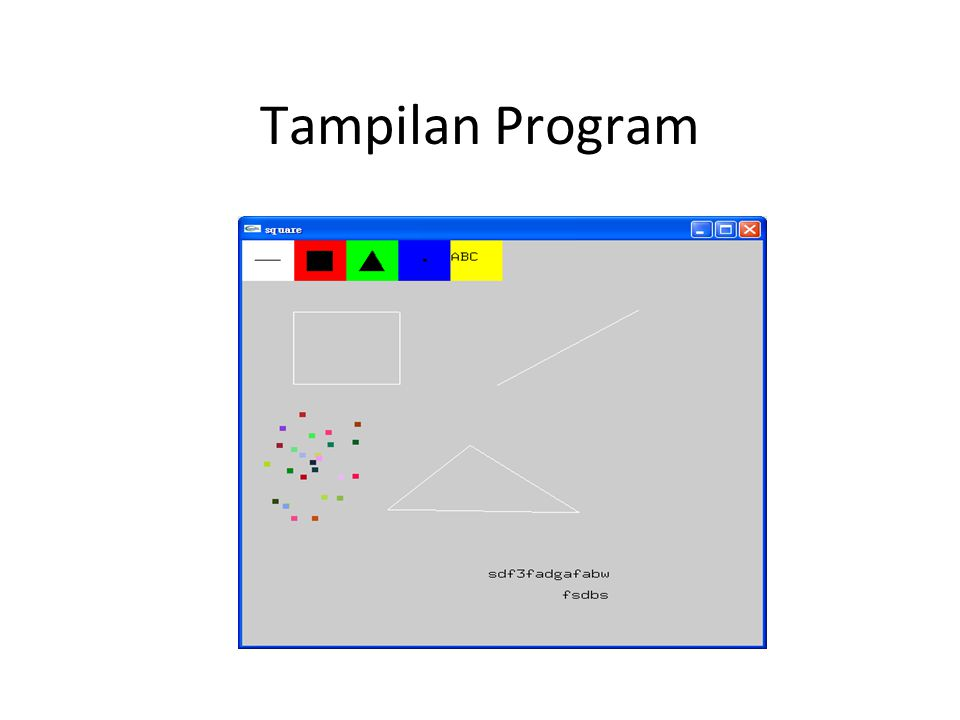 Tampilan Program
