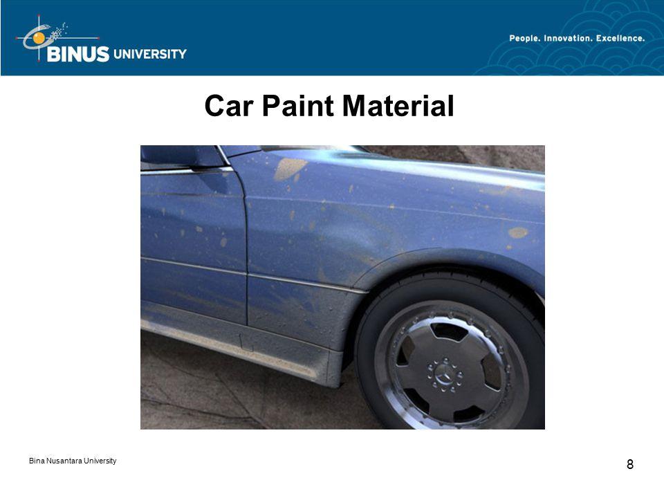 Bina Nusantara University 8 Car Paint Material