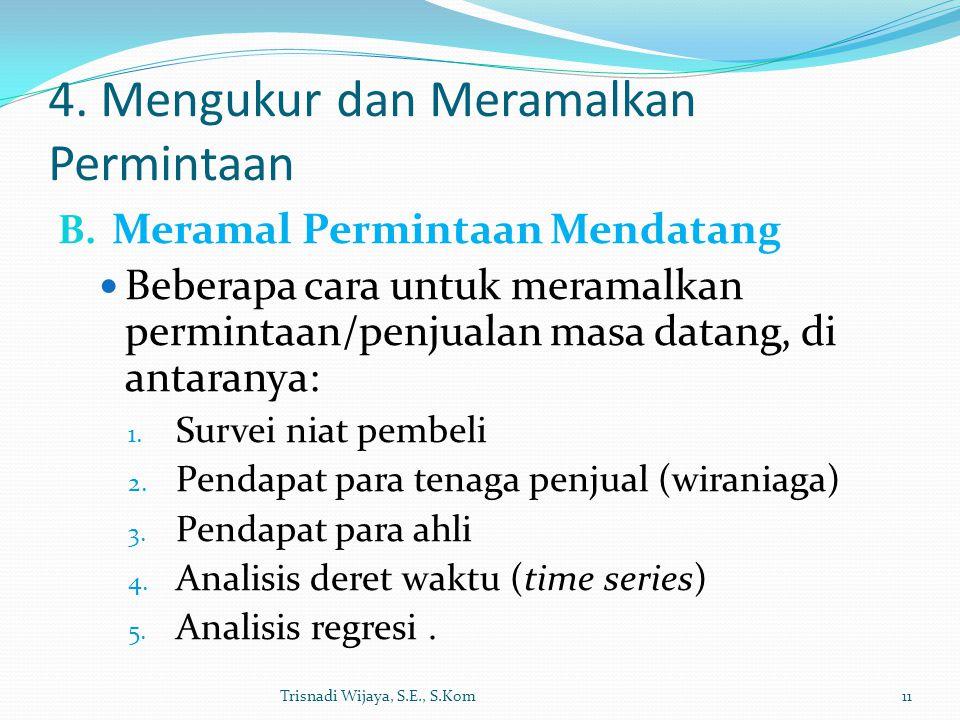 4.Mengukur dan Meramalkan Permintaan B.