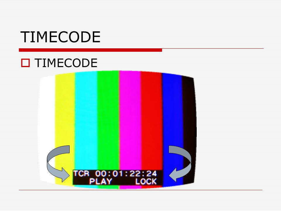 TIMECODE  TIMECODE