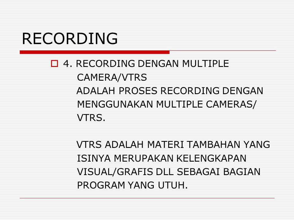 RECORDING  4.