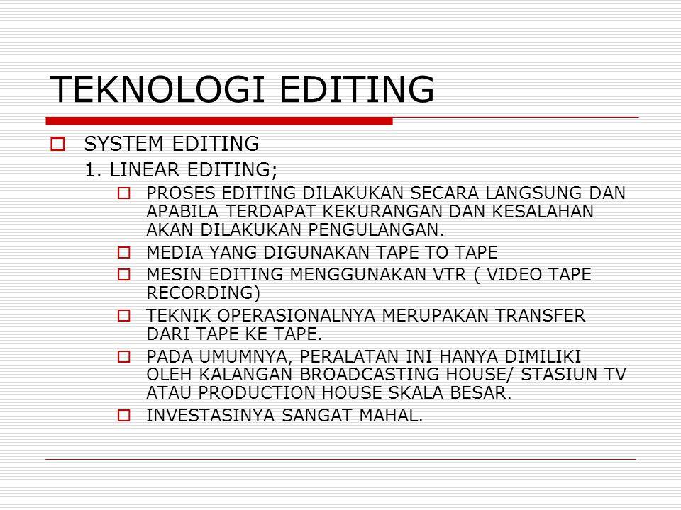 TEKNOLOGI EDITING  SYSTEM EDITING 1.