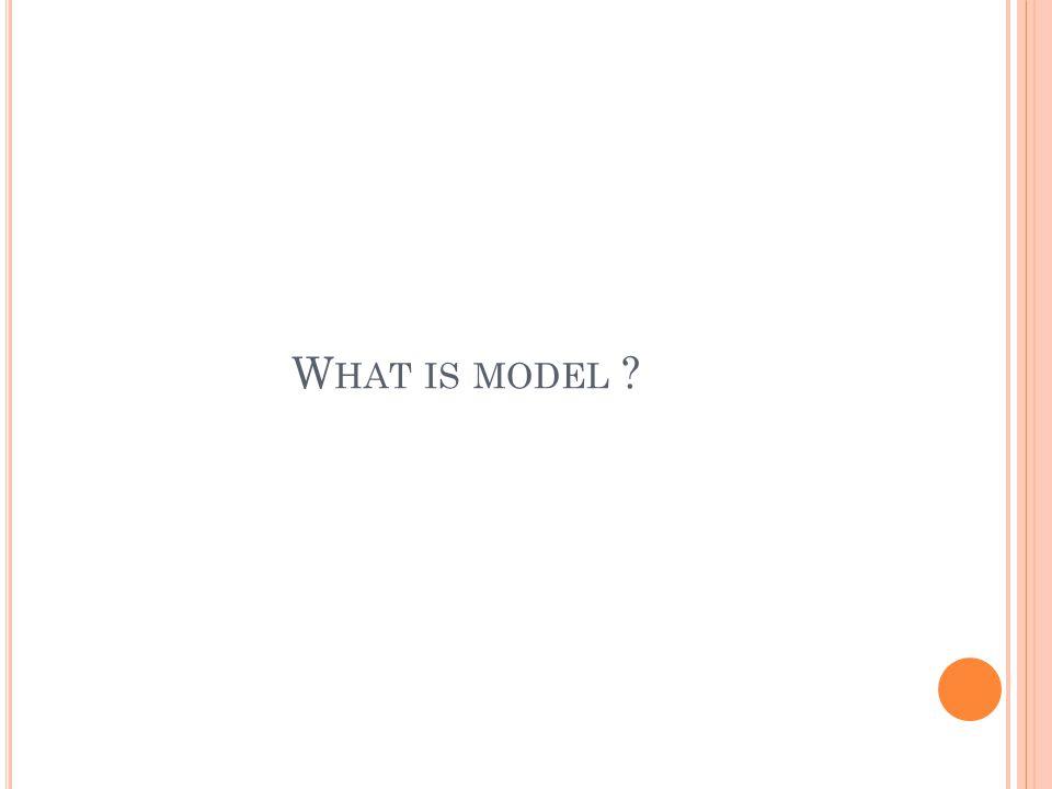 W HAT IS MODEL ?