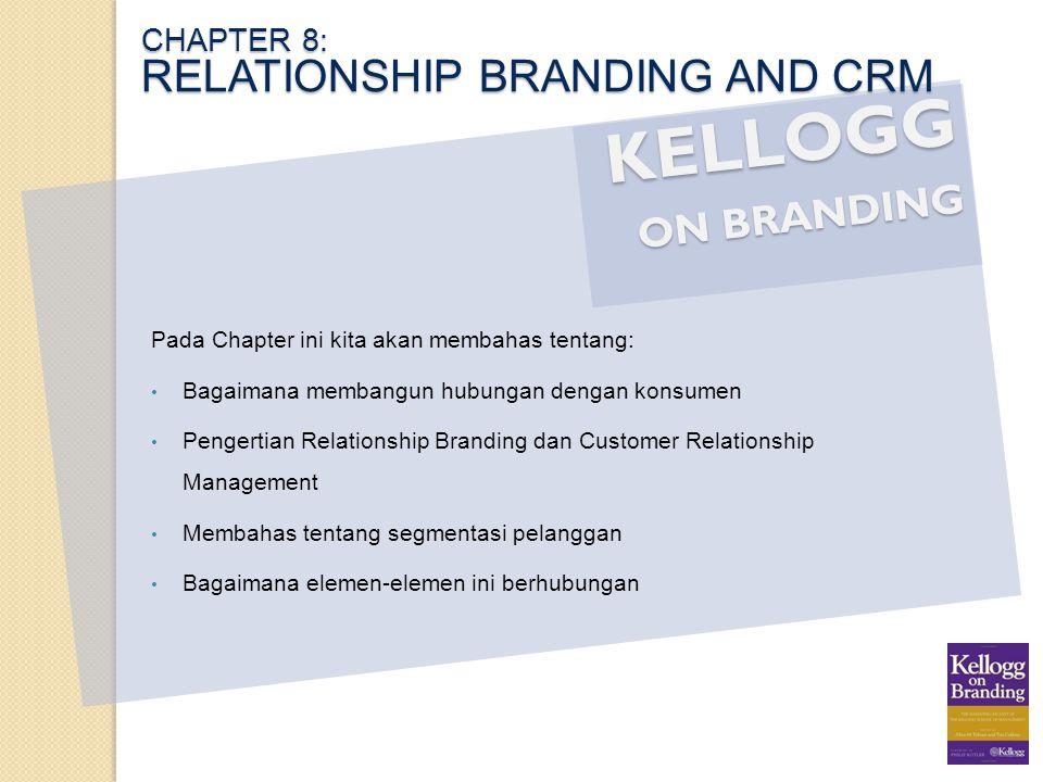 KELLOGG ON BRANDING Pada Chapter ini kita akan membahas tentang: Bagaimana membangun hubungan dengan konsumen Pengertian Relationship Branding dan Cus