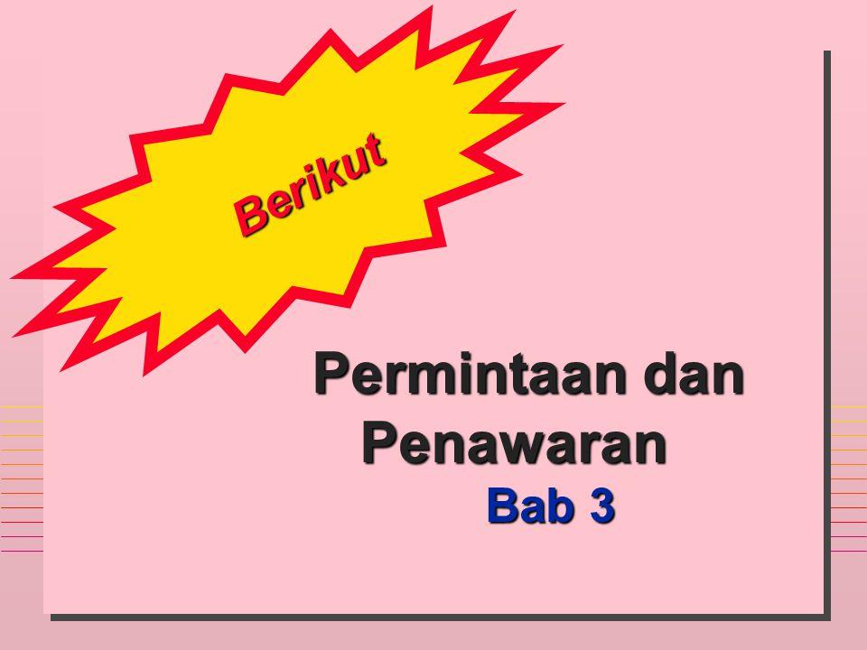 Berikut Permintaan dan Permintaan danPenawaran Bab 3 Bab 3