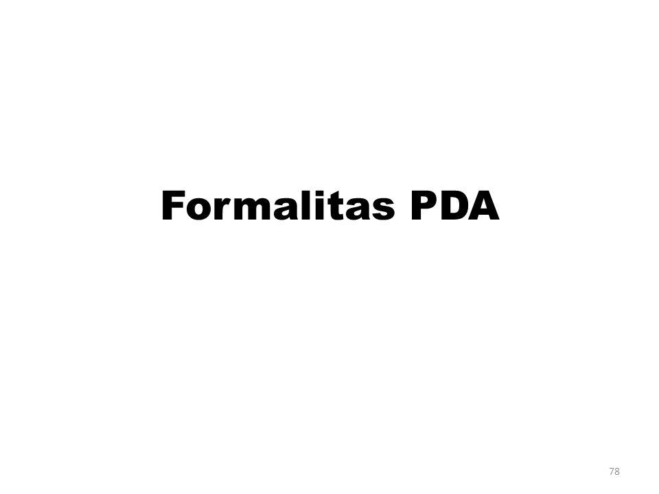 78 Formalitas PDA