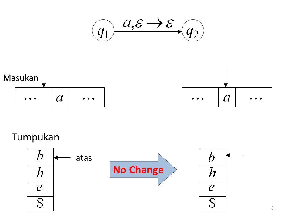 8 No Change Masukan Tumpukan atas