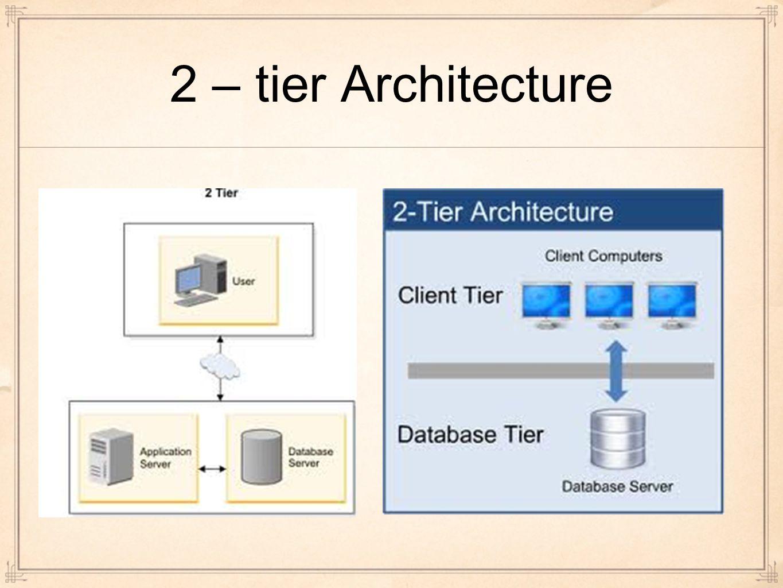 2 – tier Architecture
