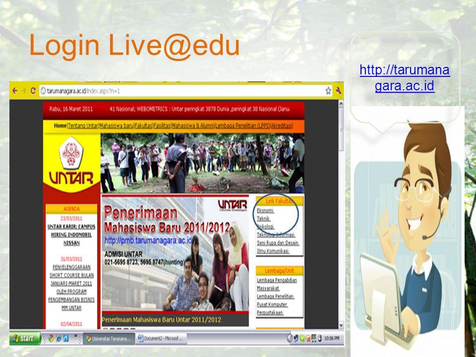 Login Live@edu http://tarumana gara.ac.id http://tarumana gara.ac.id