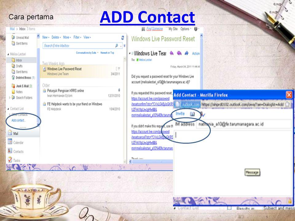 ADD Contact Cara pertama