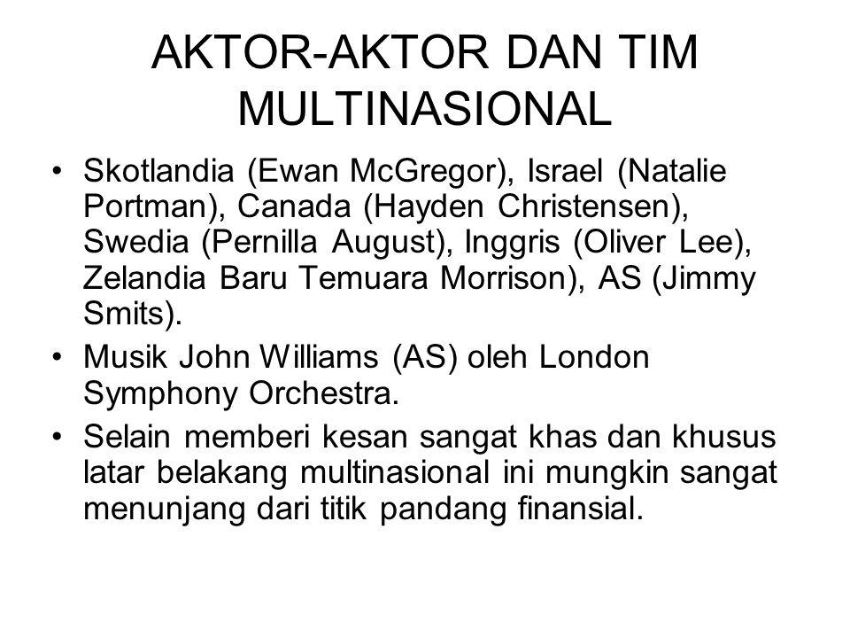 AKTOR-AKTOR DAN TIM MULTINASIONAL Skotlandia (Ewan McGregor), Israel (Natalie Portman), Canada (Hayden Christensen), Swedia (Pernilla August), Inggris