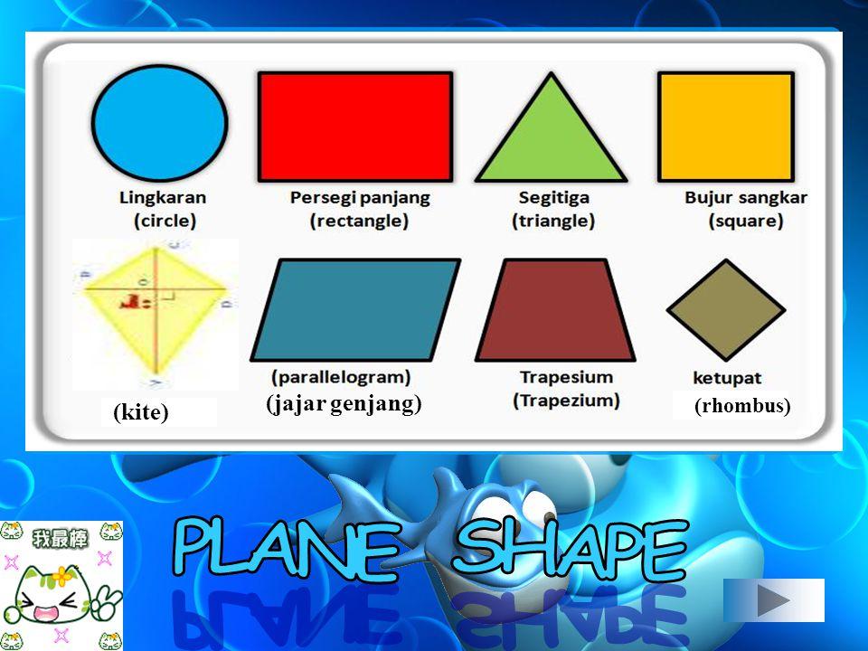 (kite) (rhombus) (jajar genjang)
