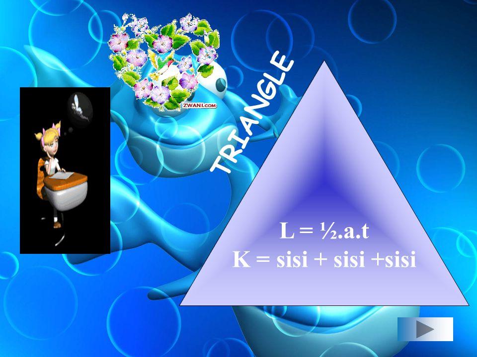 L= S² K= 4S SQUARE
