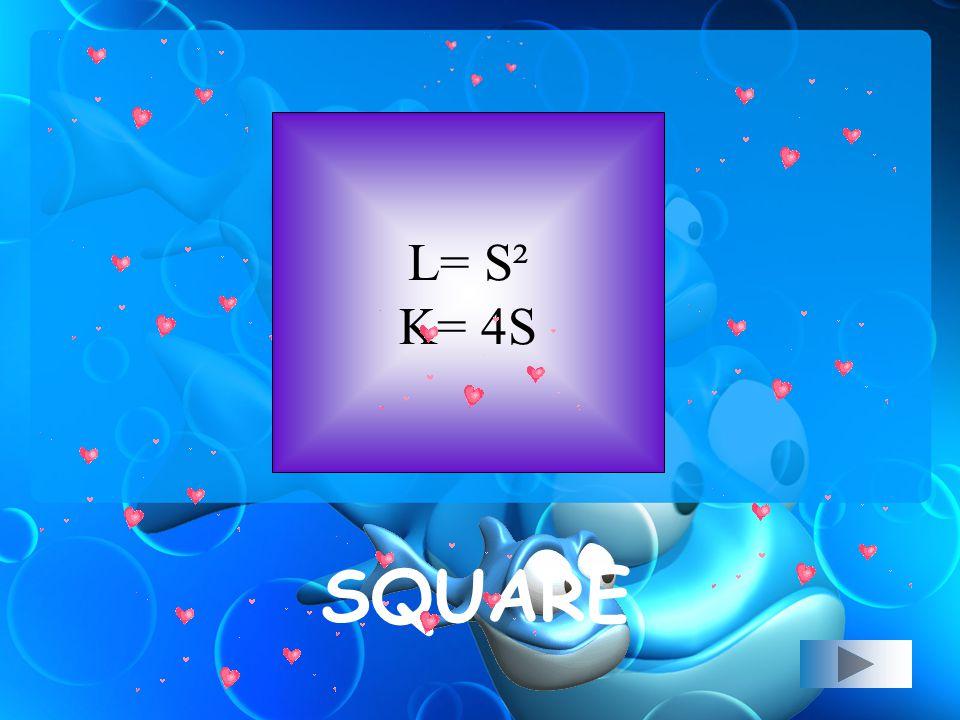 L = ½ x d 1 x d 2 K = 2 (sisi panjang + sisi pendek) KITE