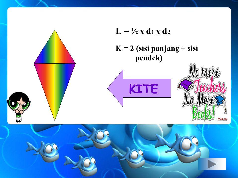 L= a. t K= jumlah semua sisi PARALLELOGRAM