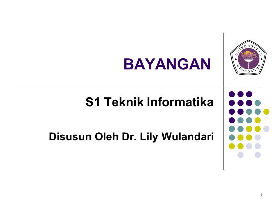 1 BAYANGAN S1 Teknik Informatika Disusun Oleh Dr. Lily Wulandari