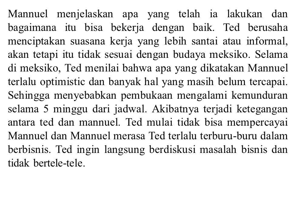 Mannuel menjelaskan apa yang telah ia lakukan dan bagaimana itu bisa bekerja dengan baik.