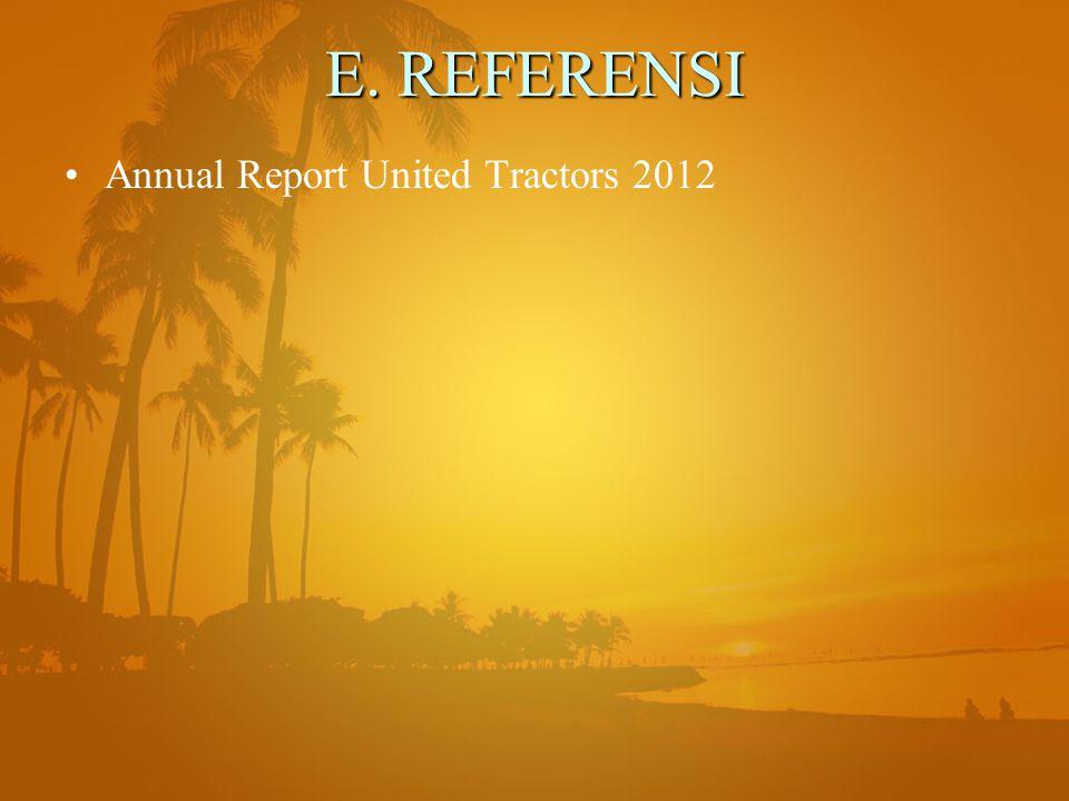 E. REFERENSI Annual Report United Tractors 2012