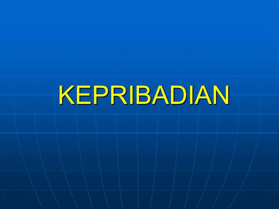 KEPRIBADIAN