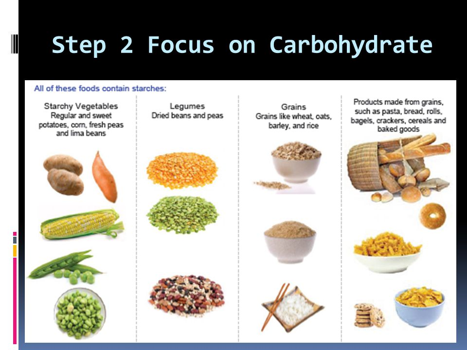 Step 2 Focus on Carbohydrate