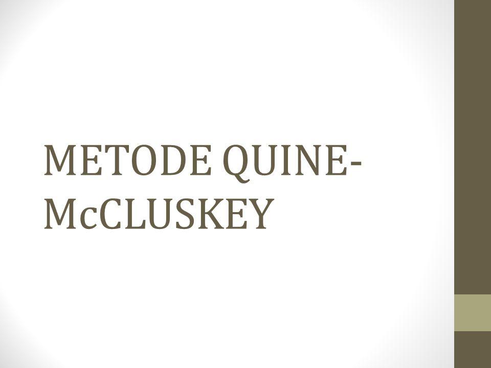 METODE QUINE- McCLUSKEY