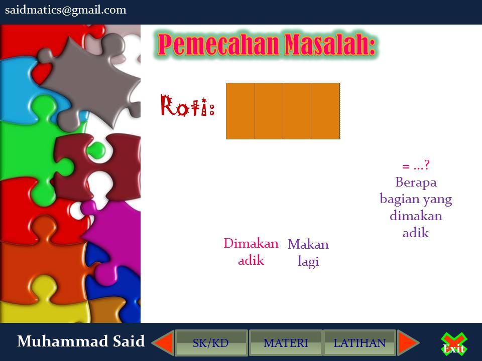 saidmatics@gmail.com Muhammad Said Exit SK/KD MATERILATIHAN