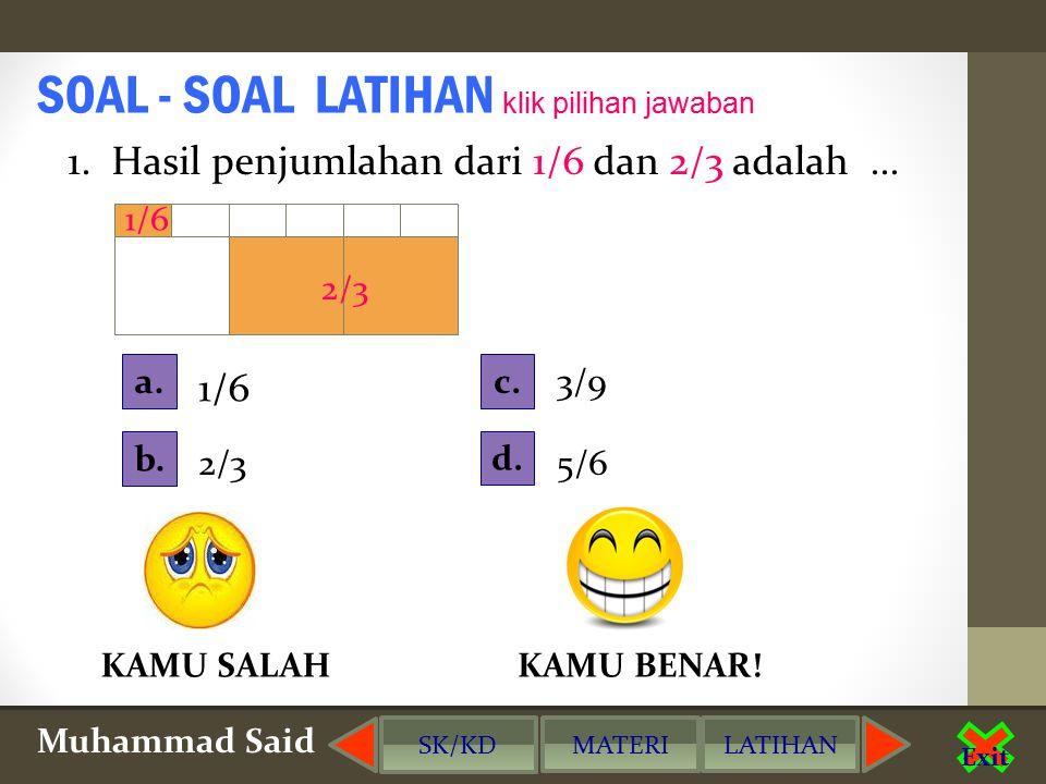 Muhammad Said SK/KD MATERILATIHAN Exit