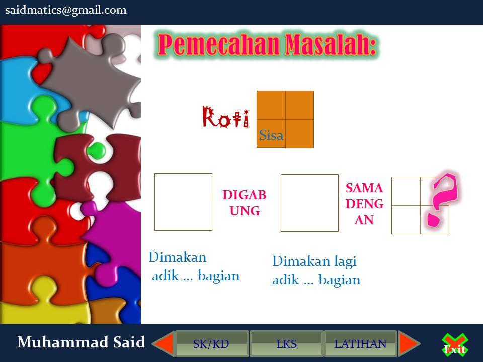 saidmatics@gmail.com Muhammad Said Exit SK/KD LKSLATIHAN