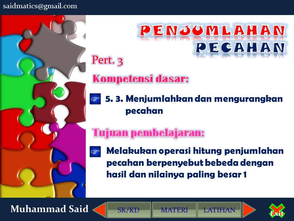 Muhammad Said Exit SOAL - SOAL LATIHAN klik pilihan jawaban 2.