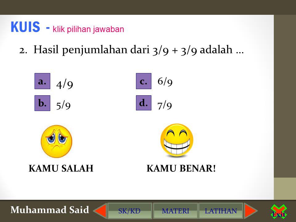Muhammad Said Exit SOAL - SOAL LATIHAN klik pilihan jawaban 1.