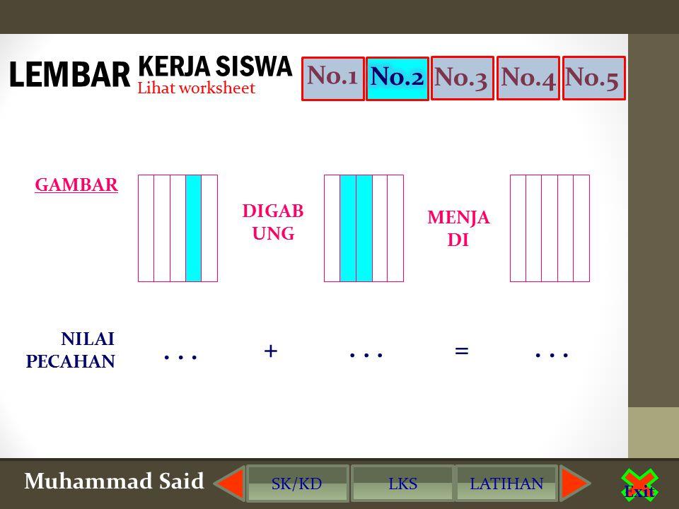 Muhammad Said Exit No.2No.3No.4No.5 DIGAB UNG MENJA DI GAMBAR NILAI PECAHAN...