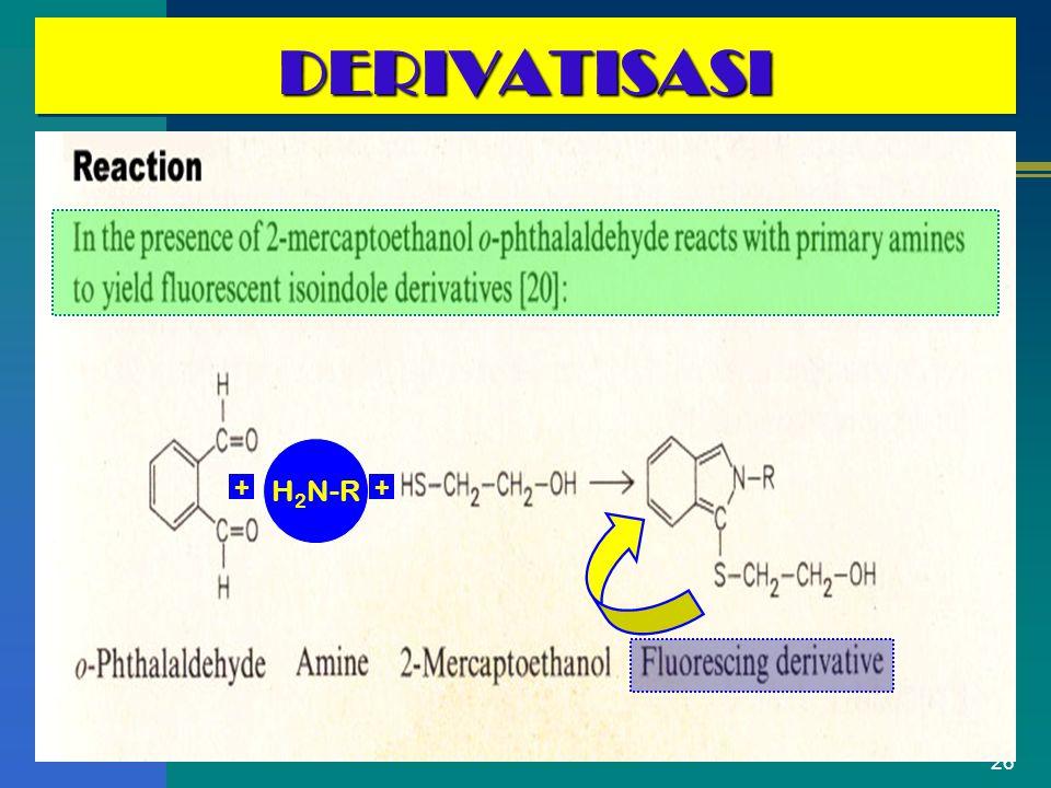 26 DERIVATISASIDERIVATISASI H 2 N-R ++