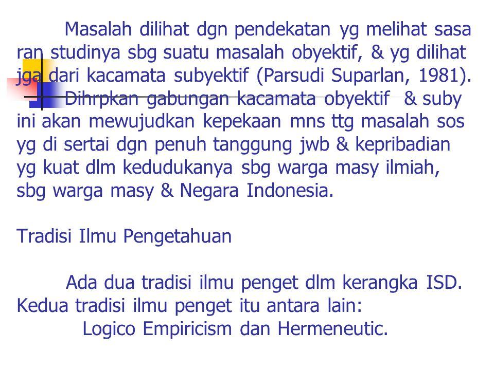 Logico Empiricism, mrpkn suatu yg nyata dan factual.