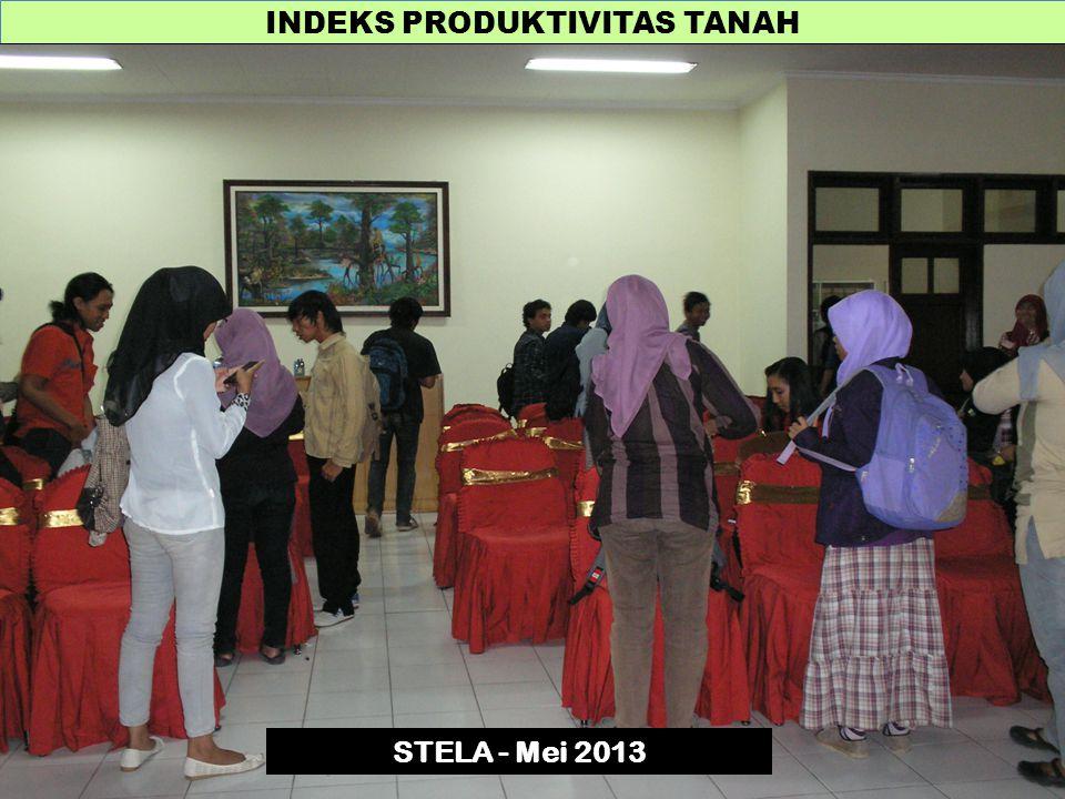 INDEKS PRODUKTIVITAS TANAH STELA - Mei 2013