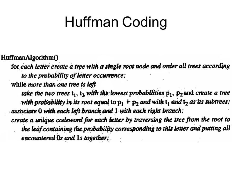Contoh: ASCII: 128 simbol panjang 7-bit.Dua dari simbol x dan y muncul dg prob.
