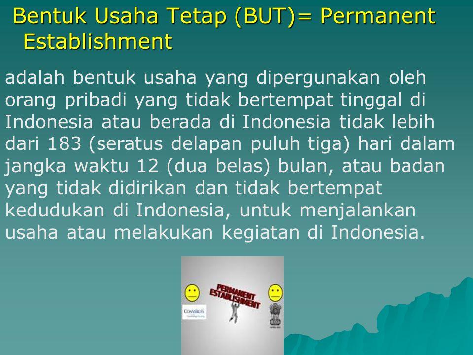2. Subjek Pajak LN - Tidak bertempat tinggal di Indonesia - Berada di Ind.
