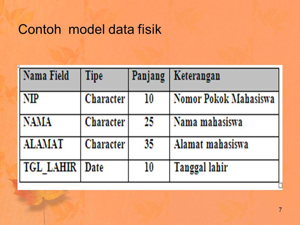 Contoh model data fisik 7