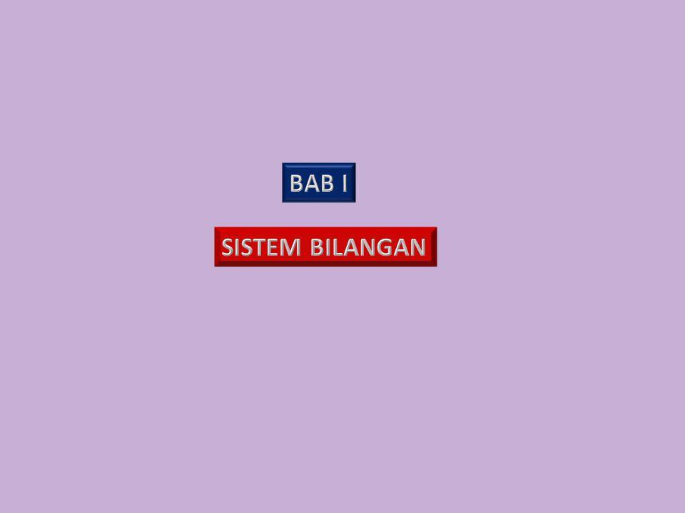 RIL (R) RASIONAL (Q) PECAHAN BULAT (J) IRRASIONAL (I) DESIMAL TERBATAS NEGATIF DESIMAL BERULANG CACAH (W) NOL ASLI (N) 1.1.1 BILANGAN RIL 1.1 SISTEM BILANGAN RIL