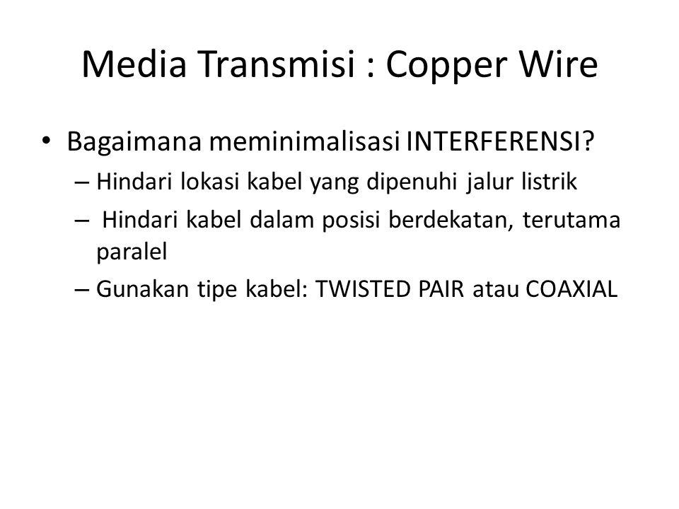 Media Transmisi : Copper Wire Bagaimana meminimalisasi INTERFERENSI.