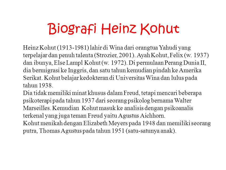 Heinz Kohut (1913-1981) lahir di Wina dari orangtua Yahudi yang terpelajar dan penuh talenta (Strozier, 2001). Ayah Kohut, Felix (w. 1937) dan ibunya,