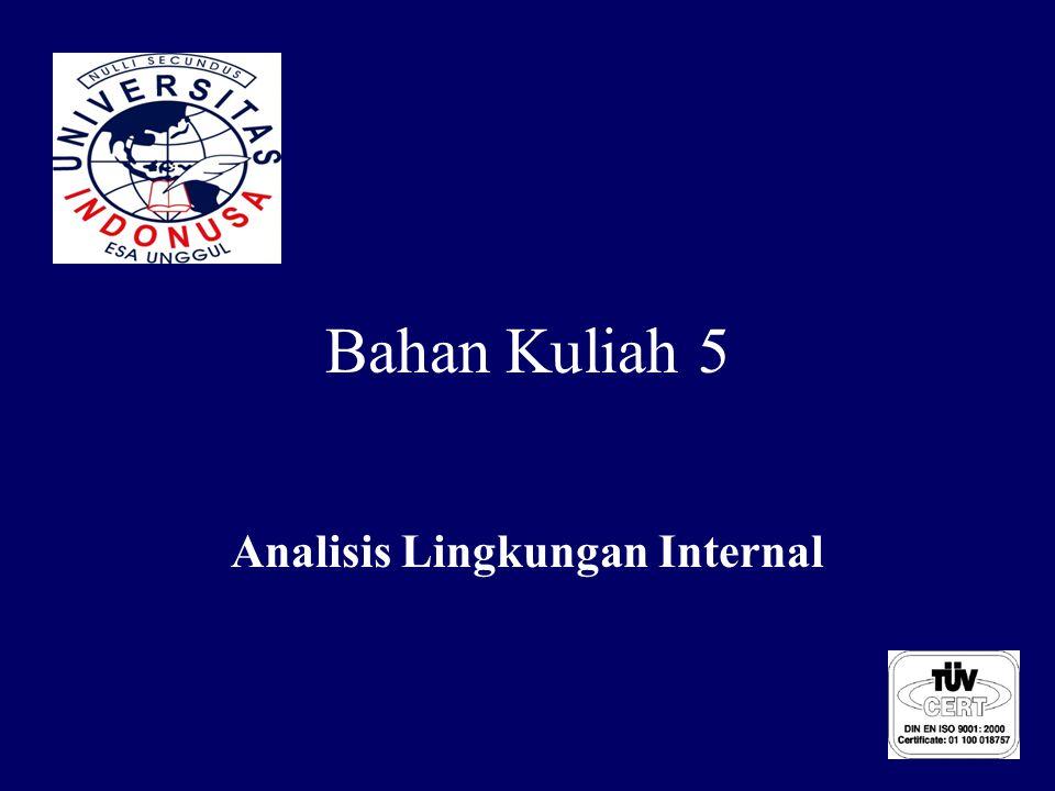 Bahan Kuliah 5 Analisis Lingkungan Internal