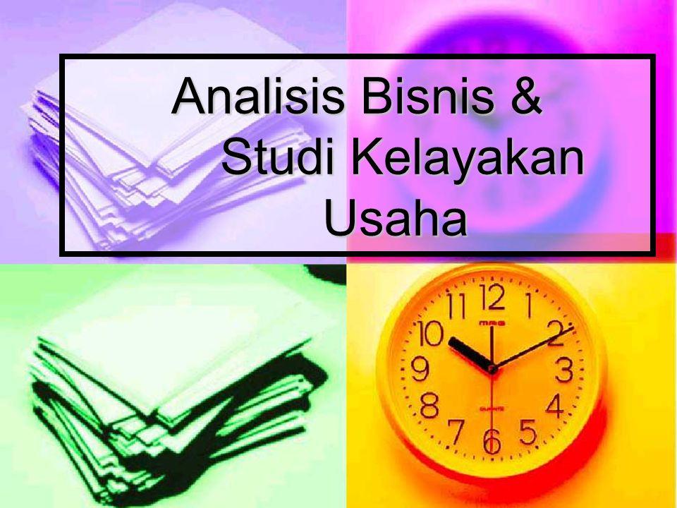 Analisis Bisnis & Studi Kelayakan Usaha