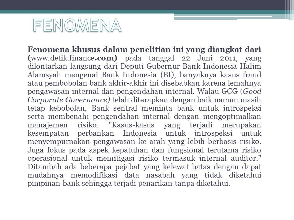 Pengaruh Audit Internal Terhadap Pelaksanaan Good Corporate Governance pada Bank BUMN Hasil penelitian menunjukkan bahwa pengaruh langsung audit internal terhadap pelaksanaan good corporate governance pada Bank BUMN yang terdaftar di bursa Efek Indonesia = 8,7% dan pengaruh tidak langsung audit internal terhadap pelaksanaan good corporate governance pada Bank BUMN yang terdaftar di bursa Efek Indonesia = 10,8%.
