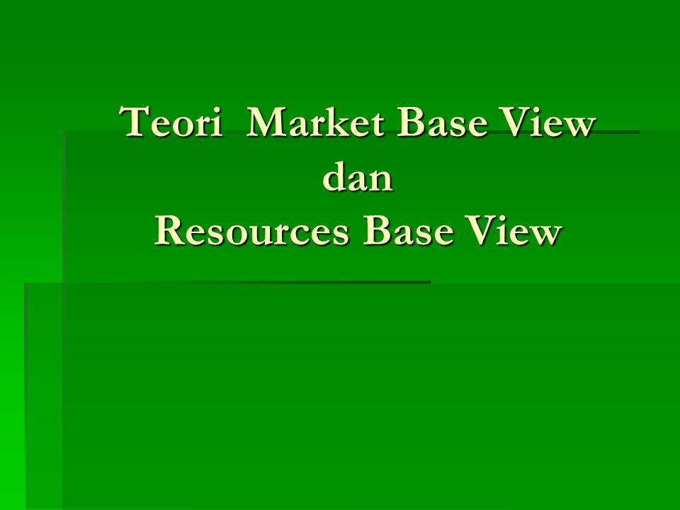 Teori Market Base View dan Resources Base View