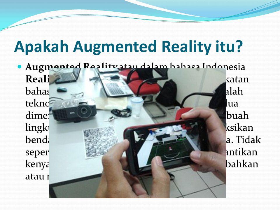 Sejarah Augmented Reality Konsep pertama augmented reality dikenalkan oleh Morton Heilig, seorang cinematographer pada tahun 1950an.